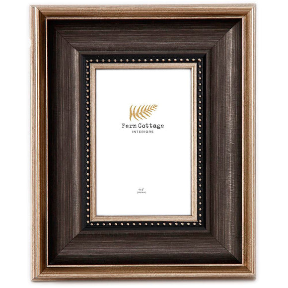 BLACK AND BRUSHED GOLD FRAME 4X6