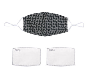 Houndstooth Face Mask (5768278638752)