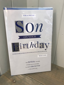 Special Son on your Birthday Card