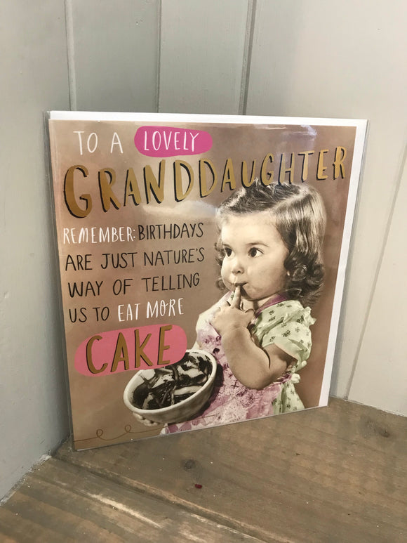 Granddaughter Cake Birthday Card