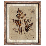 Framed Fern on Linen Print