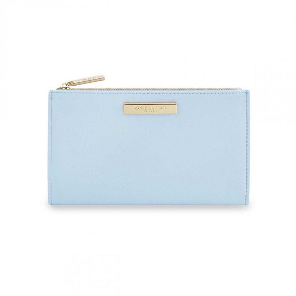 Alise Soft Pebble Fold Out Purse - Pale Blue
