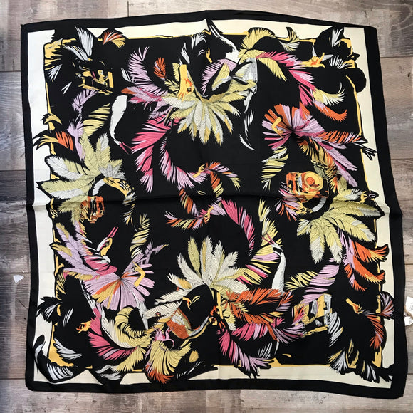 Tropical Print Square Scarf