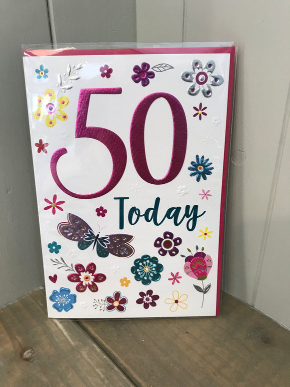 50 Today Card