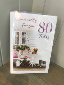 Especially for you 80th Birthday Card