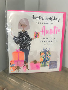 Happy Birthday to an amazing Auntie Card