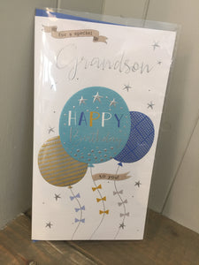 For a Special Grandson Happy Birthday Card