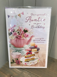 For a Special Auntie on your Birthday Card