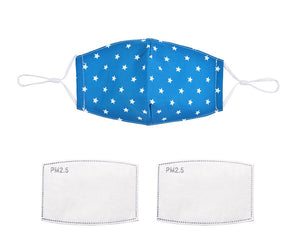 Teal Star 100% Cotton Face Mask (5681202135200)