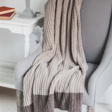 Brown Ribbed Throw 130x170