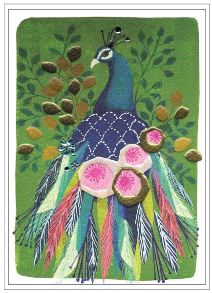Cinnamon Aitch, Cards,  Allie Mae Living ,  Peacock Blank - Allie Mae Living