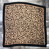 Black Trim Leopard Square Scarf (5752538431648)