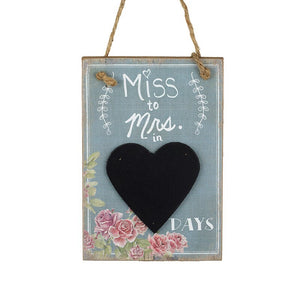 Heaven Sends, Wall Plaques,  Allie Mae Living ,  Miss to Mrs in... Chalkboard Countdown - Allie Mae Living