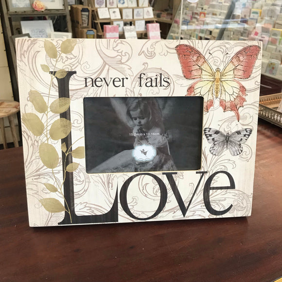 Love Never Fails Frame