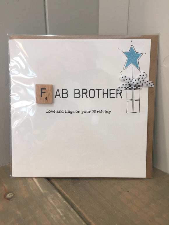 Fab Brother Birthday Card