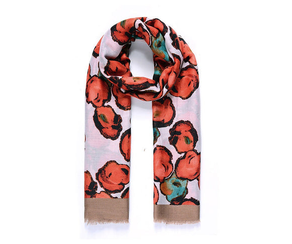 Red Poppy Blossom Scarf