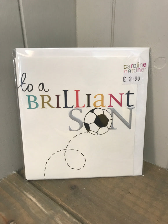To a brilliant son Card