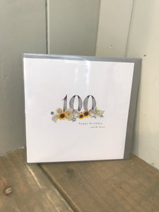 100 Happy Birthday With Love Card