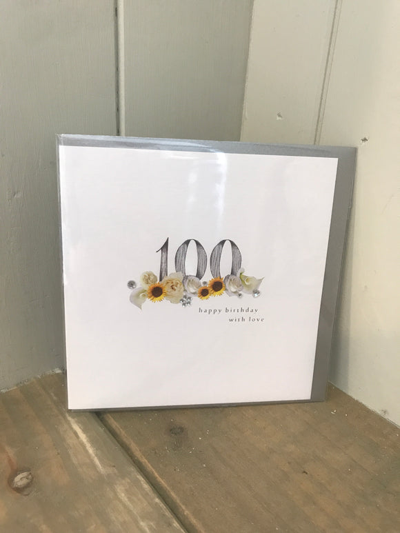 Age 100 birthday card (5500133605536)