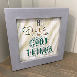 Good Things Box Plaque