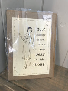 Wear the right shoes Card