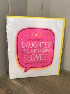 Daughter Big Birthday Love Card