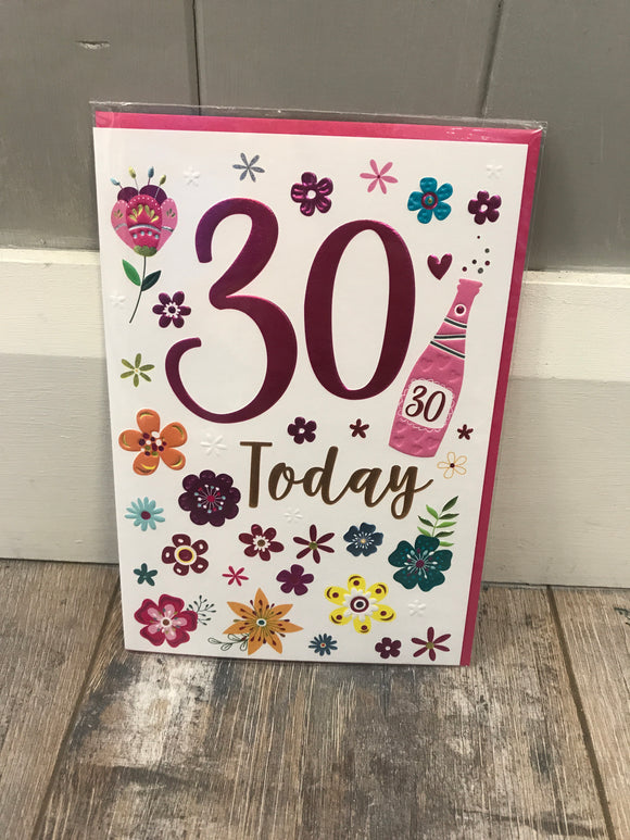 Age 30 birthday card (5499790917792)