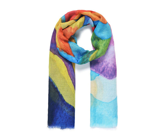 Rainbow Mountain Print Scarf (5684709884064)