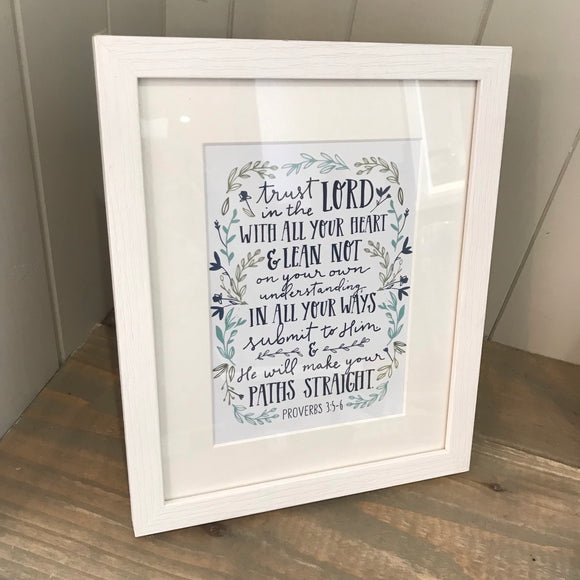 Proverbs 3:5&6 Framed Print