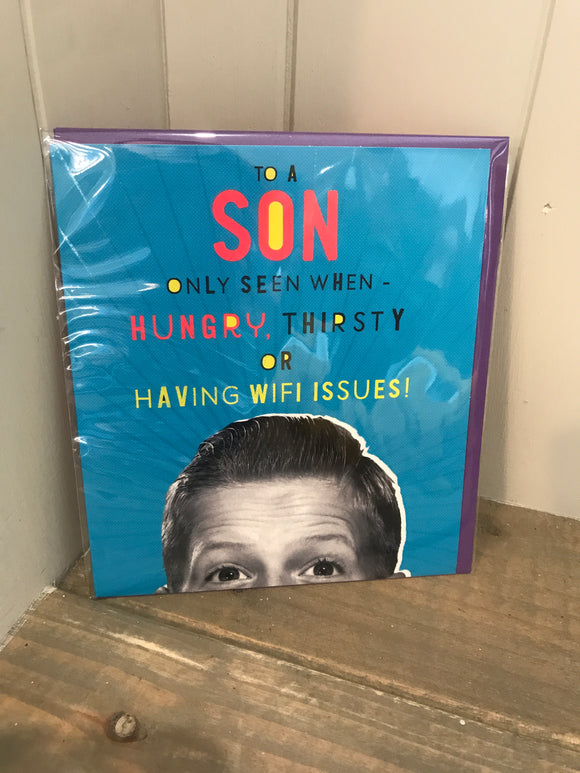 To a Son Birthday Card (5507960144032)
