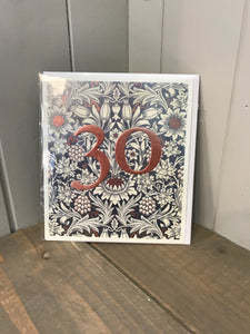 Age 30 birthday card