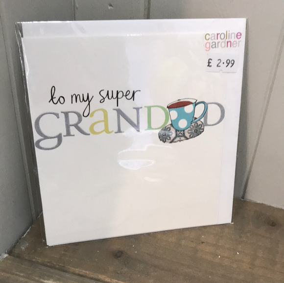 To my Super Grandad Card