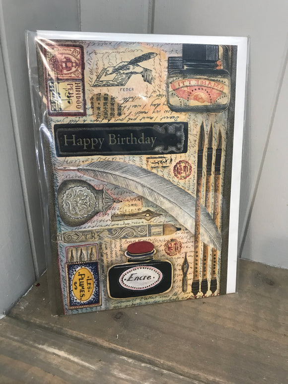 Happy Birthday Writer Card (5511212105888)