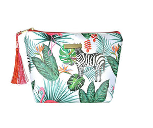 Zebra Jungle Large Makeup Bag