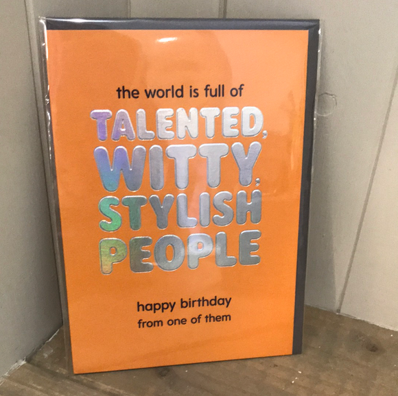 Talented Witty Birthday Card