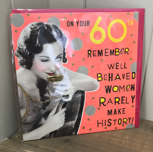 On Your 60th! Card
