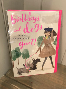 Birthdays and Dogs Card