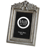 Silver Bow Detail Photo Frame
