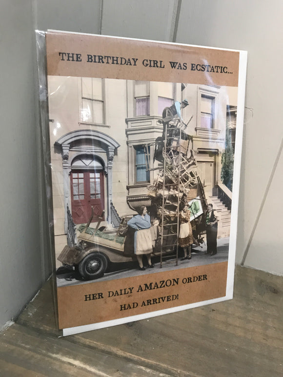 Birthday Girl was Ecstatic Card