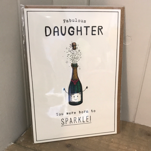 Daughter Born to Sparkle Birthday Card
