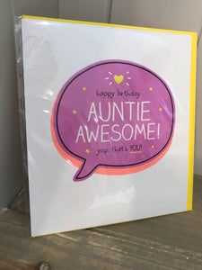 Happy Birthday Auntie Awesome Card