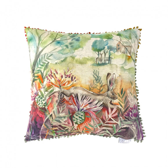 Hare & Thistle Cushion (5416148795552)