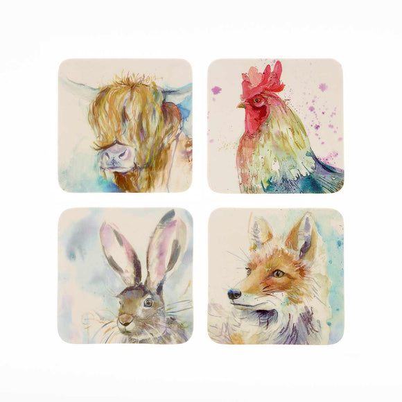 Voyage Maison, Coaster,  Allie Mae Living ,  Voyage Mixed Animal Coasters Set of 4 - Allie Mae Living
