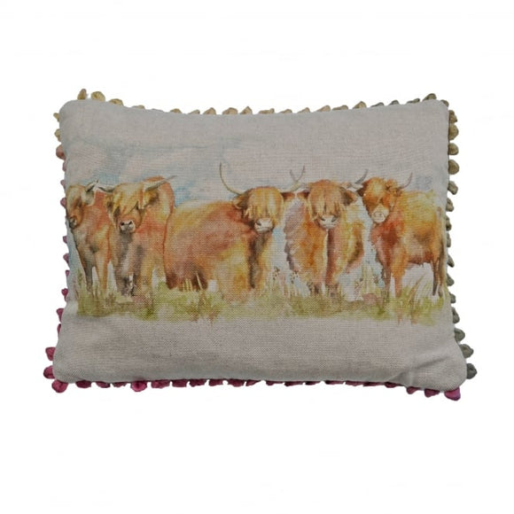 Voyage Maison, Cushion,  Allie Mae Living ,  Highland Cattle Filled Cushion - Allie Mae Living