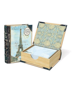 Paris Note Paper Book Box