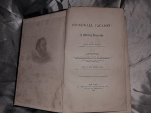 STONEWALL JACKSON: A MILITARY BIOGRAPHY - 1875 2nd