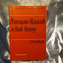 Provenance Research In Book History, A Handbook - 1998 Reprint