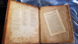 HOLY BIBLE -1813 Printed in Philadelphia by Mathew Carey