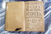 1669 Memoirs Of Henry, D. Of Guise, Relating His Passage To Naples, And Heading There The Second Revolt Of The People, Englished