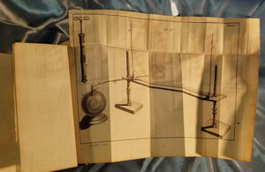 Hauksbee ELECTRICAL EXPERIMENTS - 1754 1st French Fold Out Diagrams